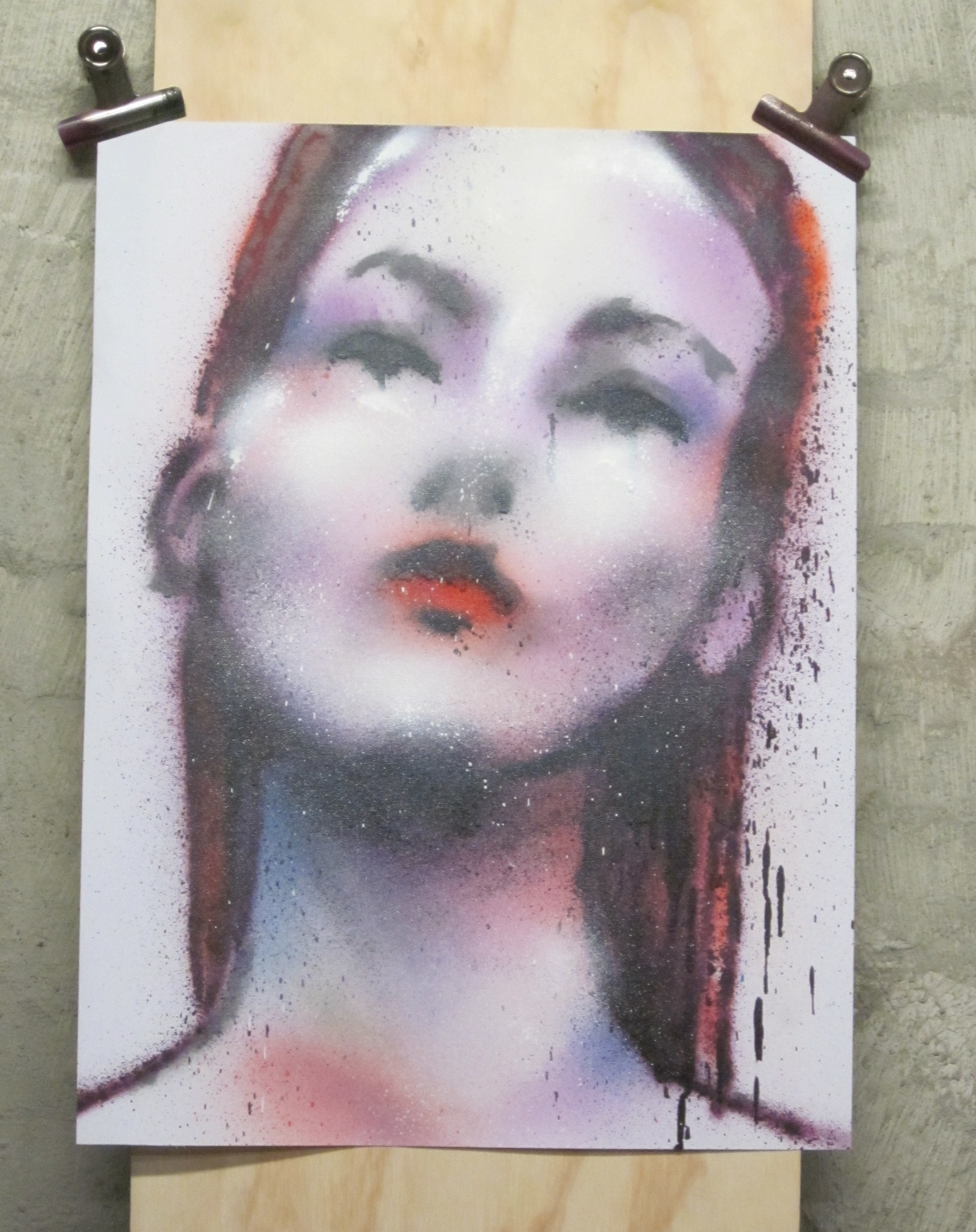 Model spray paint sketch 1